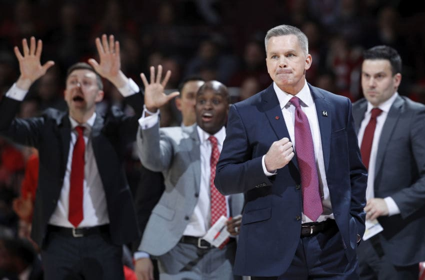 COLUMBUS, OH - JANUARY 23: Head coach Chris Holtmann of the Ohio State Buckeyes reacts in the first half of the game against the Minnesota Golden Gophers at Value City Arena on January 23, 2020 in Columbus, Ohio. Minnesota defeated Ohio State 62-59 (Photo by Joe Robbins/Getty Images)