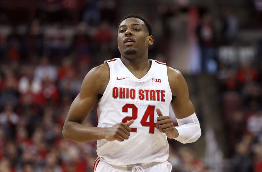 COLUMBUS, OHIO - FEBRUARY 23: Andre Wesson #24 of the Ohio State Buckeyes in action in the game against the Maryland Terrapins at Value City Arena on February 23, 2020 in Columbus, Ohio. (Photo by Justin Casterline/Getty Images)