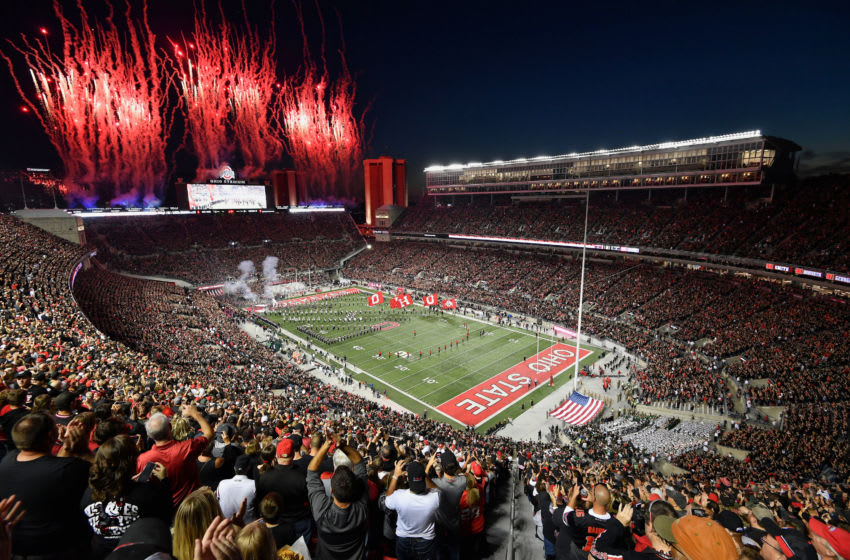 COLUMBUS, OH - OCTOBER 5: An overall general view of Ohio Stadium before a game between the Ohio State Buckeyes and the Michigan State Spartans on October 5, 2019 in Columbus, Ohio. (Photo by Jamie Sabau/Getty Images) *** Local Caption ***
