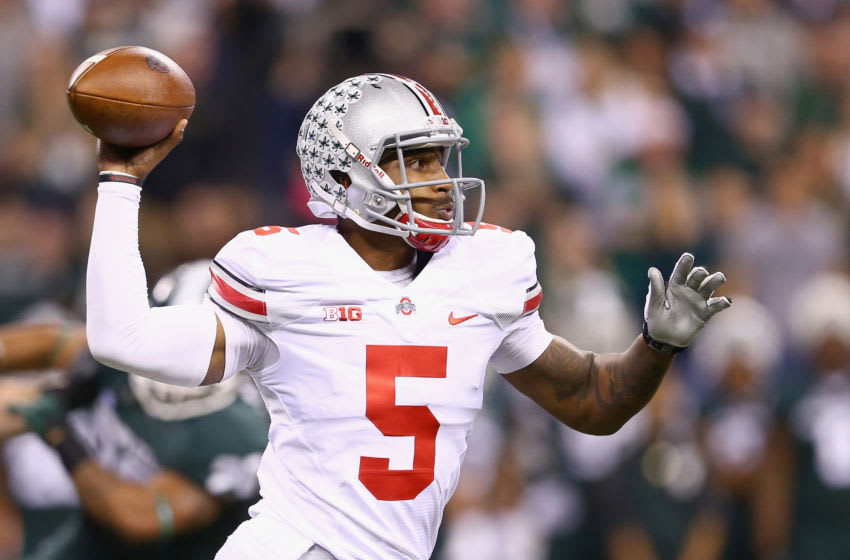Braxton Miller was pretty much the entire offense during the 2012 season, as Ohio State coach Urban Meyer would attest later. (Photo by Andy Lyons/Getty Images)