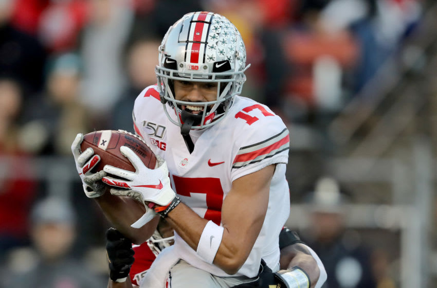 If Ohio State football isn't played in the fall, top players like Chris Olave might opt to sit out and prepare for the NFL Draft. (Photo by Elsa/Getty Images)