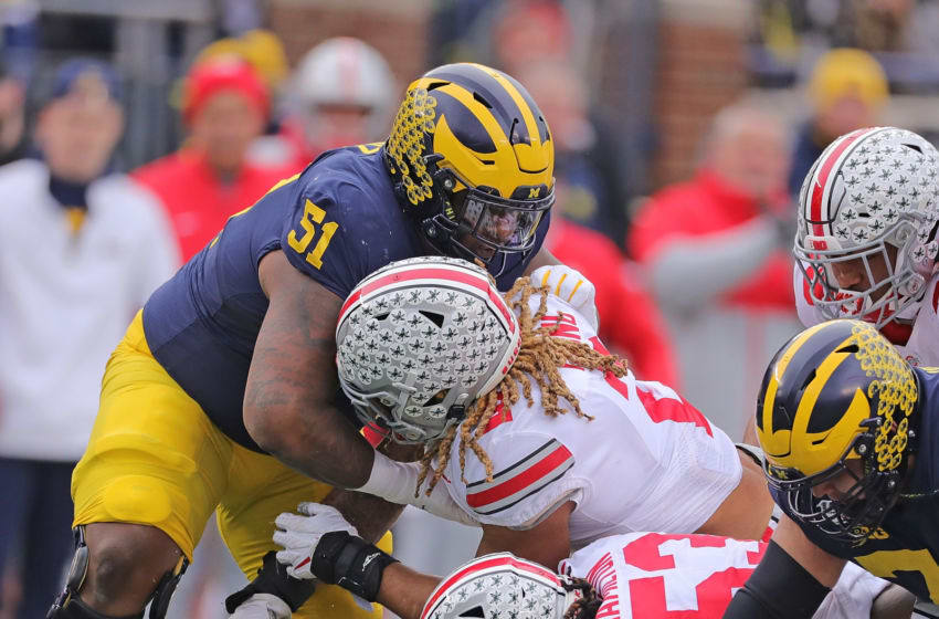 Ohio State and Michigan has always been the last game of the year. Should it stay that way in 2020? (Photo by Leon Halip/Getty Images)