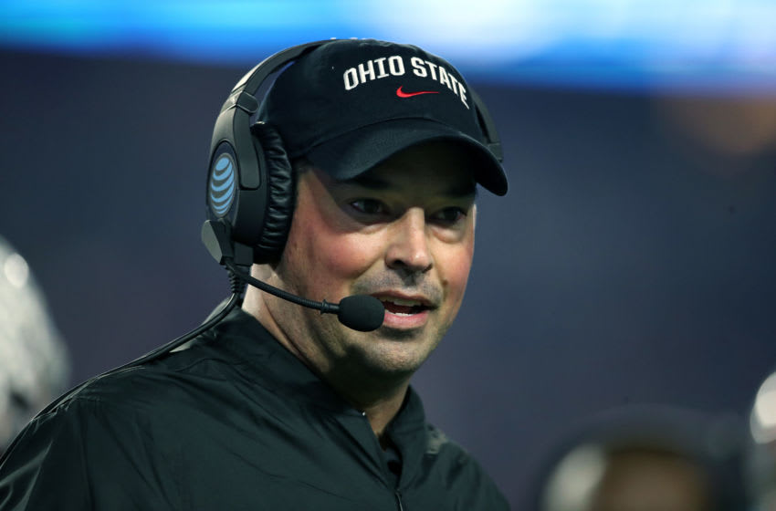 GLENDALE, ARIZONA - DECEMBER 28: Head coach Ryan Day of the Ohio State Buckeyes (Photo by Christian Petersen/Getty Images)