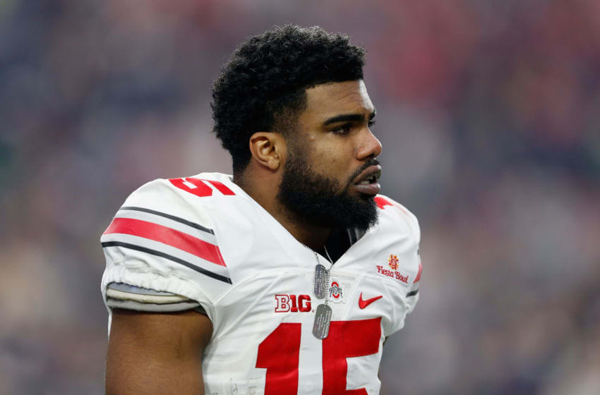 Former Ohio State running back Ezekiel Elliott is not happy that people know he has COVID-19. (Photo by Christian Petersen/Getty Images)