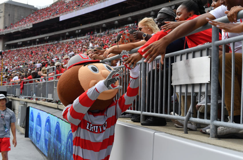 Ohio State won't play in home games with a full crowd, as Ohio Stadium will only be at 20% capacity. (Photo by Jamie Sabau/Getty Images)