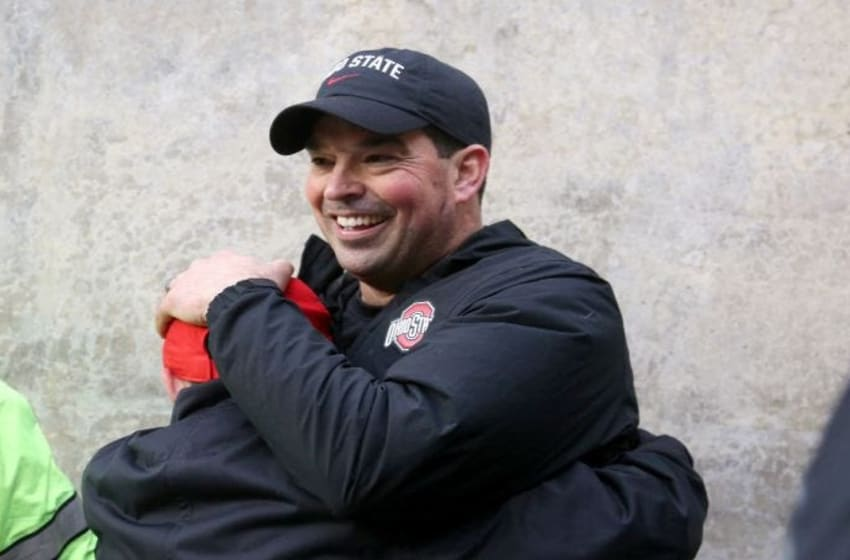 Ohio State coach Ryan Day will only be 48 and in the prime of his career when the Buckeyes host Alabama for the first time on Sept. 18, 2027. Secondary art