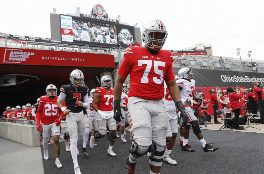Tackle Thayer Munford is 6-6 and 321 pounds and is regarded for his pass protection. Ohio State Football Spring Game