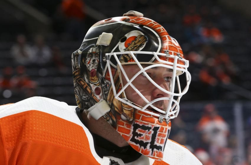 PHILADELPHIA, PA - DECEMBER 19: Brian Elliott #37 of the Philadelphia Flyers (Photo by Mitchell Leff/Getty Images)