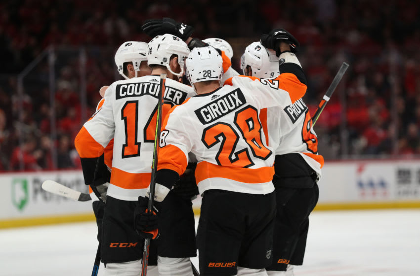 The Philadelphia Flyers in good times. (Photo by Patrick Smith/Getty Images)