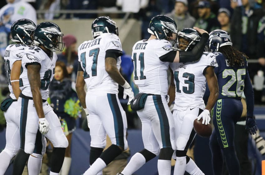 SEATTLE, WA - DECEMBER 03: Wide receiver Nelson Agholor