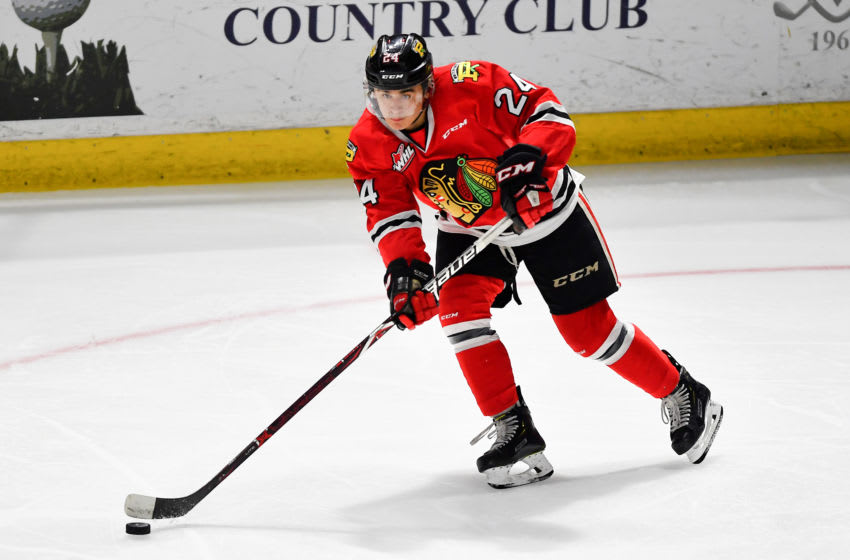 KENT, WASHINGTON - MARCH 16: Seth Jarvis #24 of the Portland Winterhawks move the puck down the ice during the second period against the Seattle Thunderbirds at the accesso ShoWare Center on March 16, 2019 in Kent, Washington. (Photo by Alika Jenner/Getty Images)