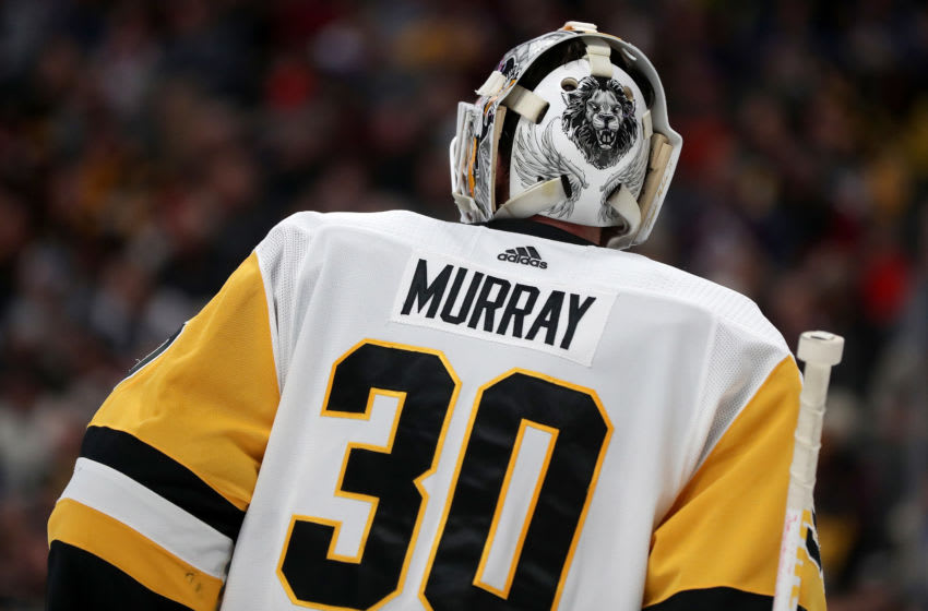 DENVER, COLORADO - JANUARY 10: Matt Murray #30 of the Pittsburgh Penguins tends goal against the Colorado Avalanche at the Pepsi Center on January 10, 2020 in Denver, Colorado. (Photo by Matthew Stockman/Getty Images)