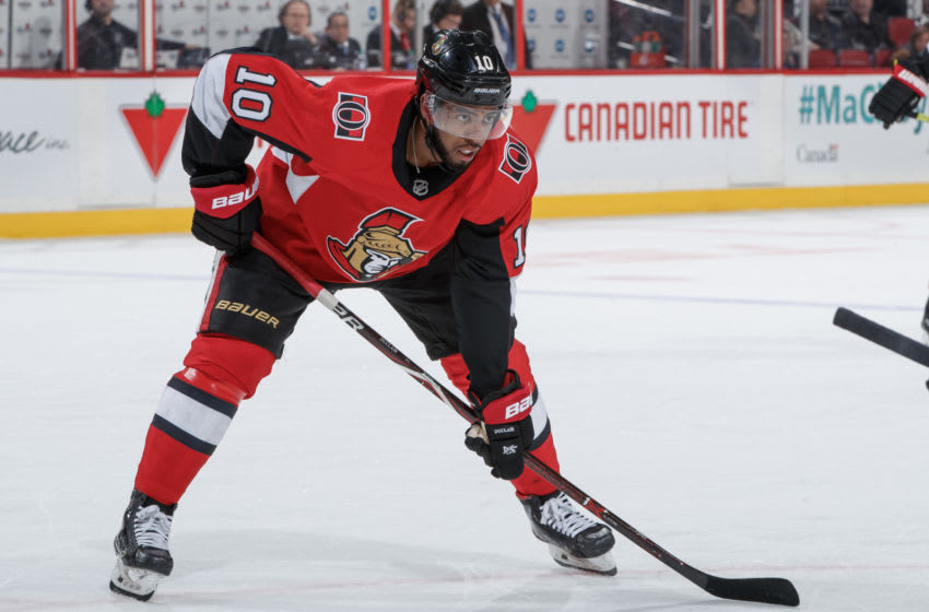 OTTAWA, ON - JANUARY 18: xx of the Ottawa Senators skates against the Calgary Flames at Canadian Tire Centre on January 18, 2020 in Ottawa, Ontario, Canada. (Photo by Andre Ringuette/NHLI via Getty Images)