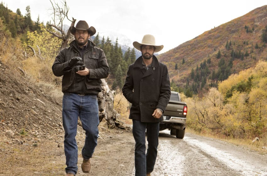 Walker (R-Ryan Bingham) continues to get fed up with the Duttons and Rip (L-Cole Hauser) and tries to leave the ranch in Paramount Network's hit drama series
