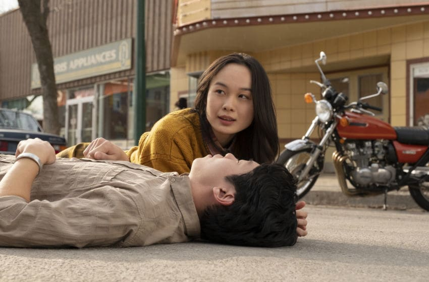 Photo: Nicole Law as May and Danny Kang as Ethan in Tales from the Loop - Credit: Jan Thijs - Courtesy of Amazon Studios/EPK TV