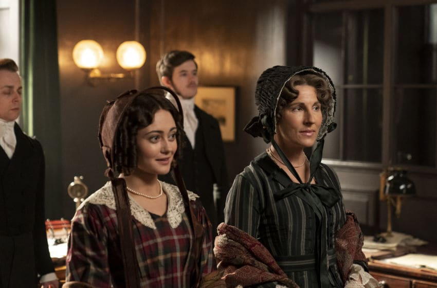[L-R] Ella Purnell as Lady Maria Grey and Tamsin Greig as Anne Trenchard in Belgravia Season 1, Episode 4 - Courtesy of Carnival Films