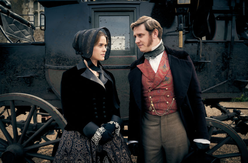 [L-R] Alice Eve as Susan Trenchard and Richard Goulding as Oliver Trenchard in Belgravia Season 1, Episode 4 - Courtesy of Carnival Films