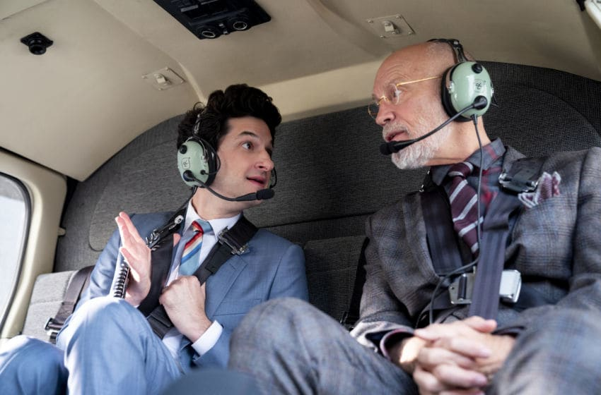 SPACE FORCE (L TO R) BEN SCHWARTZ as F. TONY SCARAPIDUCCI and JOHN MALKOVICH as DR. ADRIAN MALLORY in episode 103 of SPACE FORCE Cr. AARON EPSTEIN/NETFLIX © 2020