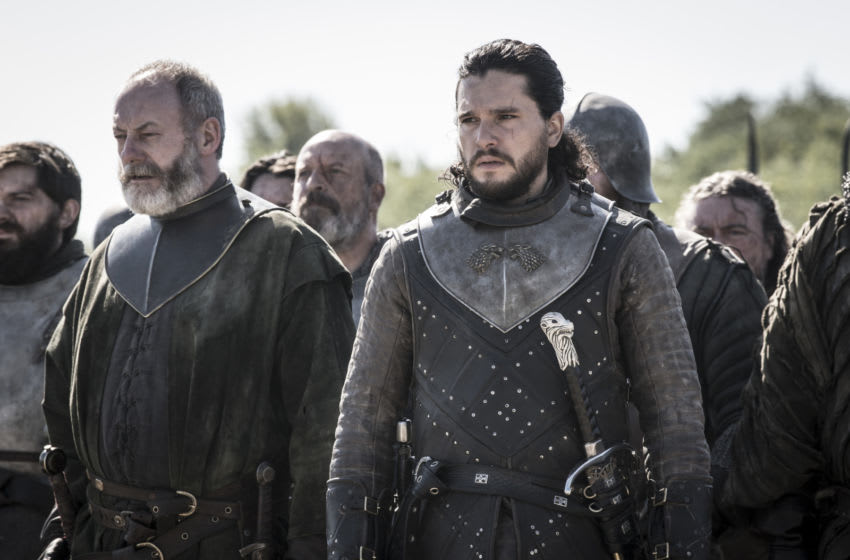 Season 8, episode 5 (debut 5/12/19): Liam Cunningham, Kit Harington. photo: Helen Sloan/HBO