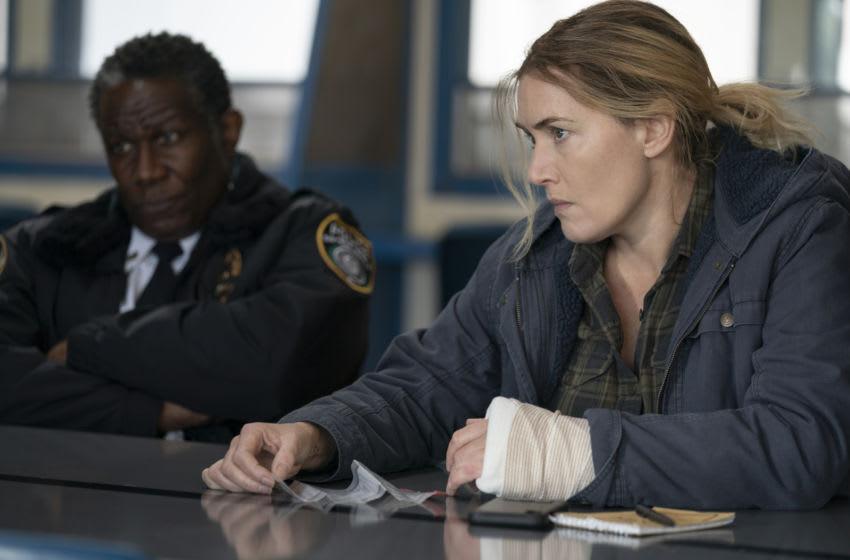 Kate Winslet, John Douglas Thompson in Mare of Easttown Season 1, Episode 6