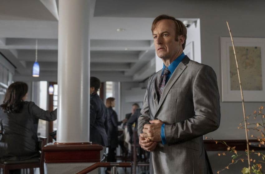 Bob Odenkirk as Jimmy McGill - Better Call Saul _ Season 5, Episode 4 - Photo Credit: Greg Lewis/AMC/Sony Pictures Television