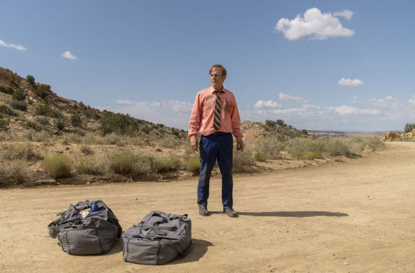 Bob Odenkirk as Jimmy McGill - Better Call Saul _ Season 5, Episode 8 - Photo Credit: Greg Lewis/AMC/Sony Pictures Television