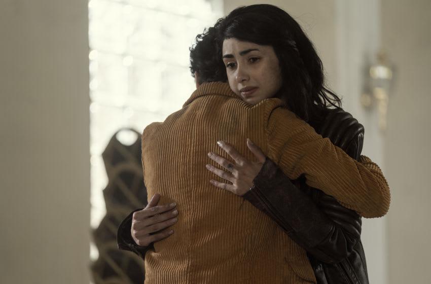Alexa Mansour as Hope, Nicolas Cantu as Elton- The Walking Dead: World Beyond _ Season 1, Episode 8 - Photo Credit: Zach Dilgard/AMC