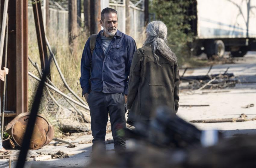 Jeffrey Dean Morgan as Negan, Melissa McBride as Carol Peletier-The Walking Dead_Season 10, Episode 22-Photo Credit: Josh Stringer/AMC