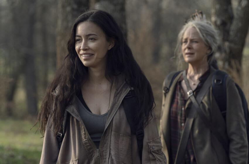 Christian Serratos as Rosita Espinosa, Melissa McBride as Carol Peletier - The Walking Dead _ Season 11, Episode 3 - Photo Credit: Josh Stringer/AMC