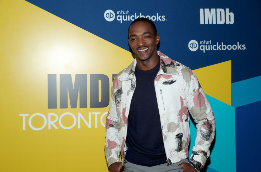 TORONTO, ONTARIO - SEPTEMBER 07: Actor Anthony Mackie of 'Seberg' attends The IMDb Studio Presented By Intuit QuickBooks at Toronto 2019 at Bisha Hotel & Residences on September 07, 2019 in Toronto, Canada. (Photo by Rich Polk/Getty Images for IMDb)