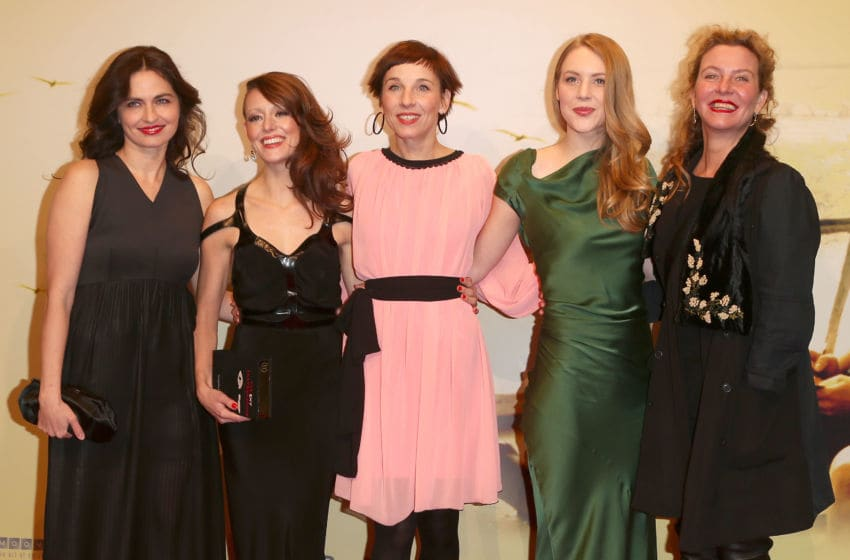 BERLIN, GERMANY - FEBRUARY 05: (L-R) Erika Marozsan, Lavinia Wilson, Meret Becker, Lisa Smit and Margarita Broich attend 'Quelle des Lebens' Germany Premiere at Delphi Filmpalast on February 5, 2013 in Berlin, Germany. (Photo by Andreas Rentz/Getty Images)
