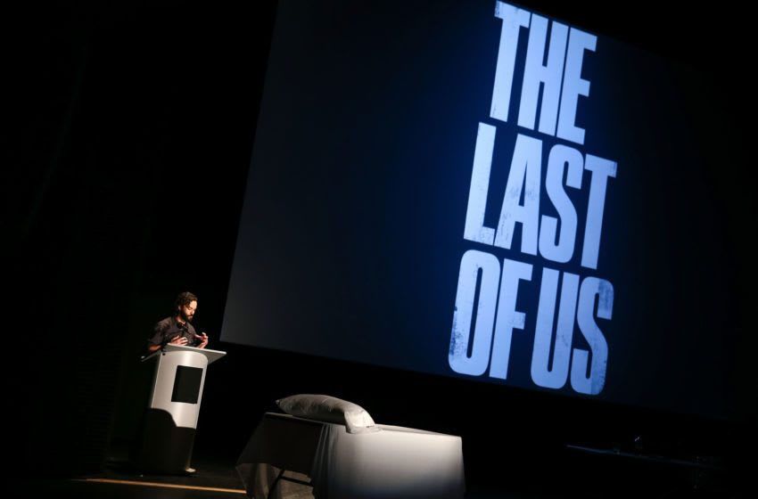 SANTA MONICA, CA - JULY 28: Creative Director Neil Druckmann speaks onstage during The Last of Us: One Night Live reading and performance at The Broad Stage on July 28, 2014 in Santa Monica, California. (Photo by Imeh Akpanudosen/Getty Images for Sony Computer Entertainment America)