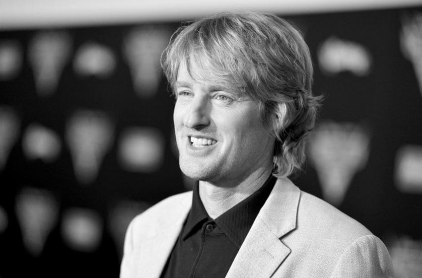 """ANAHEIM, CA - JUNE 10: (EDITORS NOTE: Image has been shot in black and white. Color version not available.) Actor Owen Wilson poses at the World Premiere of Disney/Pixar's """"Cars 3"""