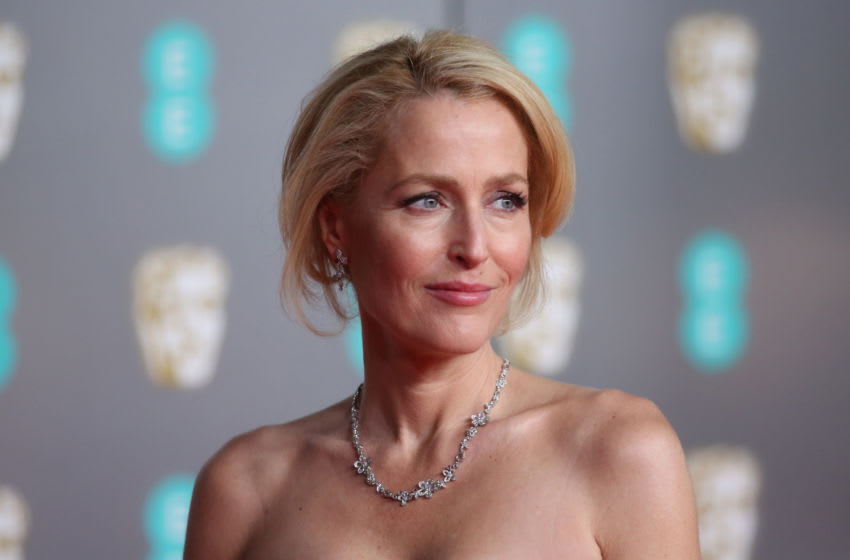 LONDON, ENGLAND - FEBRUARY 02: Gillian Anderson attends the EE British Academy Film Awards 2020 at Royal Albert Hall on February 02, 2020 in London, England. (Photo by Lia Toby/Getty Images)