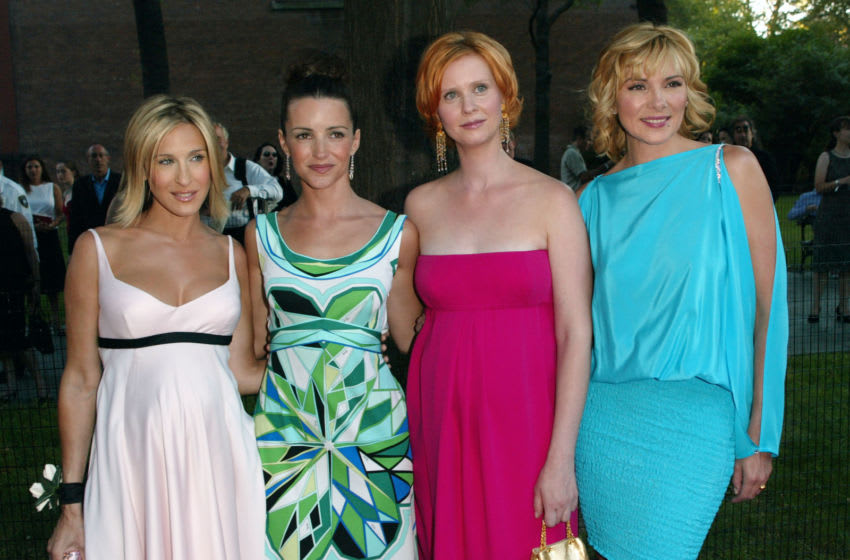 Cast members Sarah Jessica Parker, Kristin Davis, Cynthia Nixon and Kim Cattrall arriving at the World Premiere of the fifth season of