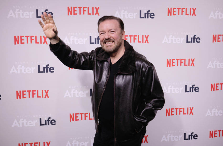 NEW YORK, NEW YORK - MARCH 07: Comedian Ricky Gervais attends the