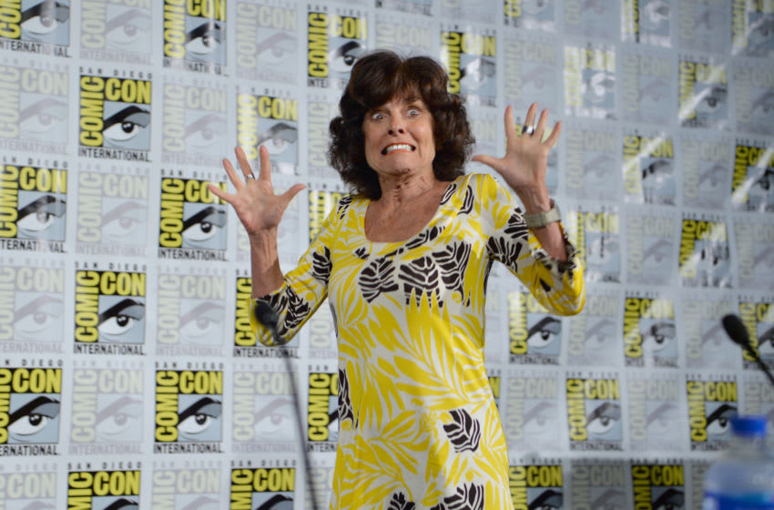 SAN DIEGO, CALIFORNIA - JULY 19: Adrienne Barbeau spekas at the Creepshow Panel at Comic Con 2019 on July 19, 2019 in San Diego, California. (Photo by Jerod Harris/Getty Images for AMC)