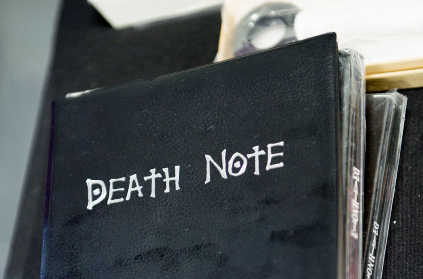 LONDON, ENGLAND - JULY 28: A Death Note notebook from the Tsugumi Ohba Takeshi Obata manga seen during London Film and Comic Con 2019 at Olympia London on July 28, 2019 in London, England. (Photo by Ollie Millington/Getty Images)