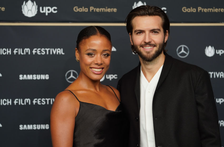 The Feed stars Nina Toussaint-White and Guy Burnet (Photo by Thomas Niedermueller/Getty Images for ZFF)