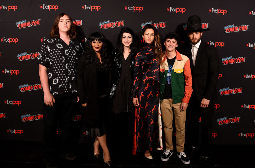 NEW YORK, NEW YORK - OCTOBER 05: Hal Cumpston, Aliyah Royale, Alexa Mansour, Annet Mahendru, Nicolas Cantu, and Nico Tortorella attend The Walking Dead Universe, Including AMC's Flagship Series and the Untitled New Third Series Within The Walking Dead Franchise at New York Comic Con 2019 Day 3 at New York Comic Con 2019 Day 3 at the Hulu Theater at Madison Square Garden on October 05, 2019 in New York City. (Photo by Ilya S. Savenok/Getty Images for ReedPOP )