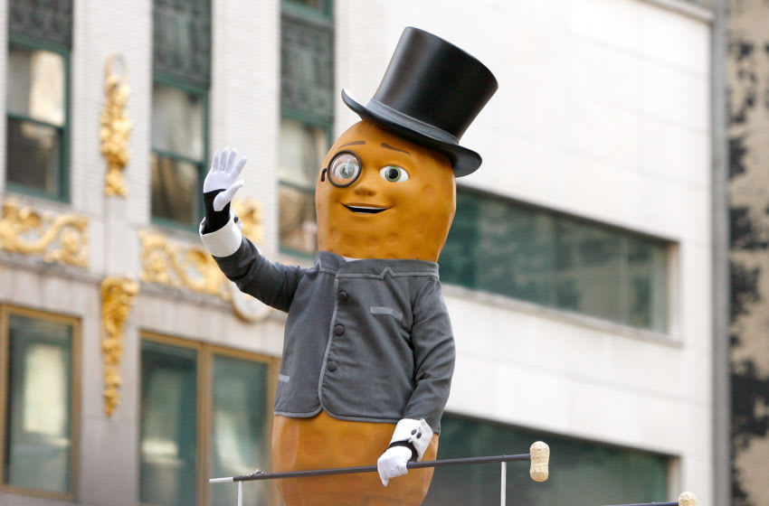 NEW YORK, NY - NOVEMBER 22: Planter's Mr. Peanut attends the 86th Annual Macy's Thanksgiving Day Parade on November 22, 2012 in New York City. (Photo by Mike Lawrie/Getty Images)