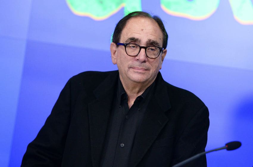 NEW YORK, NY - OCTOBER 30: R.L. Stine, author of Goosebumps rings the NASDAQ Opening Bell in celebration of Halloween and