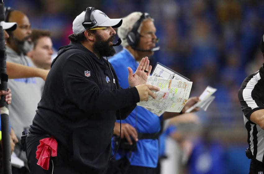 DETROIT, MI - OCTOBER 07: Head coach Matt Patricia of the Detroit Lions looks on while playing the Green Bay Packers at Ford Field on October 7, 2018 in Detroit, Michigan. (Photo by Gregory Shamus/Getty Images)