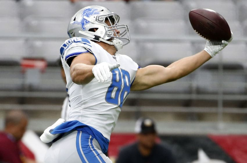 T.J. Hockenson, Detroit Lions (Photo by Ralph Freso/Getty Images)