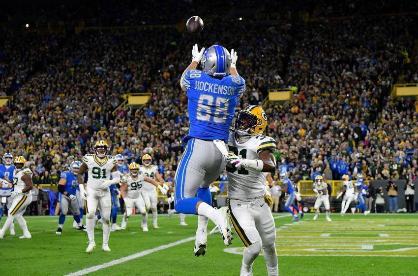 T.J. Hockenson, Detroit Lions (Photo by Quinn Harris/Getty Images)