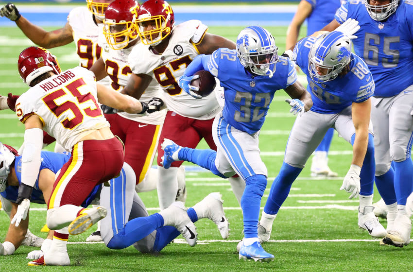 D'Andre Swift #32 of the Detroit Lions (Photo by Rey Del Rio/Getty Images)