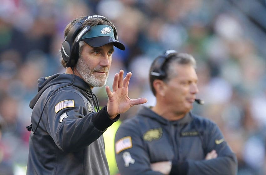 PHILADELPHIA, PA - NOVEMBER 13: Defensive backs coach Cory Undlin of the Philadelphia Eagles on the sidelines against the Atlanta Falcons during a game at Lincoln Financial Field on November 13, 2016 in Philadelphia, Pennsylvania. The Eagles defeated the Falcons 24-15. (Photo by Rich Schultz/Getty Images)