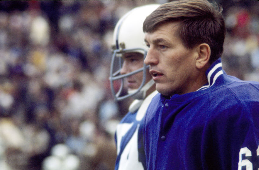 Johnny Unitas, Baltimore Colts (Photo by Victor Mikus/Getty Images)