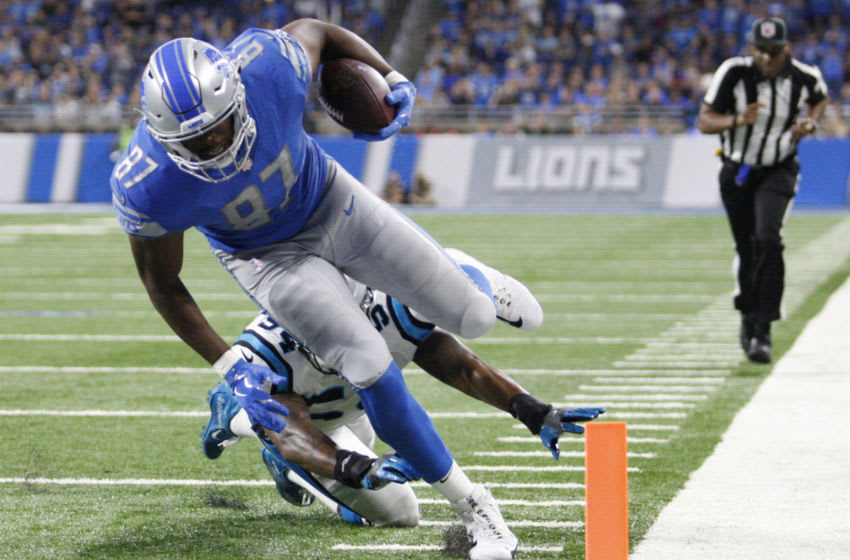 Detroit Lions tight end Darren Fells (87) (Raj Mehta-USA TODAY Sports)
