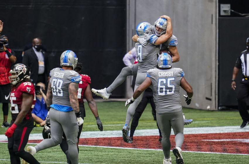 T.J. Hockenson, Detroit Lions - Mandatory Credit: Dale Zanine-USA TODAY Sports